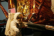 Astronaut and Lunar Lander Exhibit