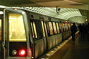 Train in a Washington, D.C. Metrorail Station