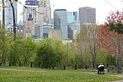 Father Hennepin Park and The Minneapolis Skyline