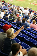 Fans in the Metrodome Before a Minnesota Twins Game