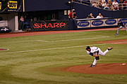 Pitcher for the Twins in Motion