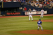Baseball Pitcher Winding Up, Twins vs. Rangers
