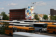 Buses Parked Outside the Metrodome