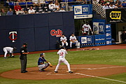Minnesota Twins Player at Bat