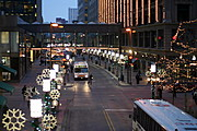 Buses on Nicollet Mall at Seventh Street, Downtown Minneapolis