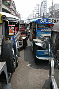 Jeepney Traffic in Divisoria, Manila, the Philippines