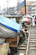 Homeless Living Along the Railroad Tracks, Divisoria