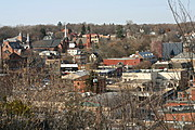 Downtown Stillwater, Minnesota, Viewed from Overhead