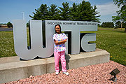 CNA (Certified Nursing Assistant) Posing Outside WITC