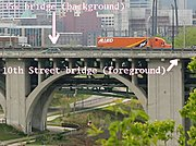 35W Bridge Over the Mississippi River, Minneapolis (cropped section of image 6381)