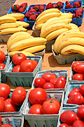 Bananas, Strawberries, and Tomatoes at the Minneapolis Farmer's Market