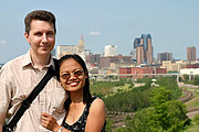 Filipino-American Couple and the St. Paul Skyline
