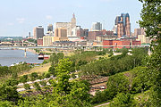 Riverfront area of St. Paul, Minnesota