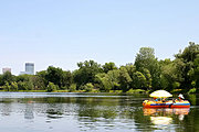 Inflatable Raft on Lake of the Isles, Minneapolis