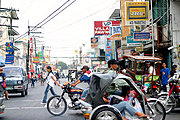 Intersection on Rizal Street, Laoag City, Ilocos Norte
