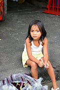 Young Girl Selling Eggplant, Laoag, Philippines