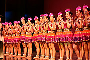 Girls from RFDZ High School in China After Performing in Minnesota