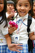 Students at Siteo Pader Elementary School, Philippines