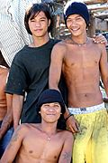 Teenagers near the Abacan River in Angeles City