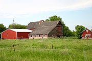 Red Barn/Red Shed in Rural Wisconsin