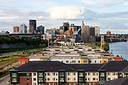 Shepard Road Development, Downtown St. Paul Skyline