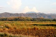 Farm Fields and Mountains, Ilocos Norte, the Philippines