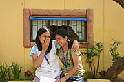 Two Students at ICFI (Sacred Heart) High School, Badoc, Ilocos Norte
