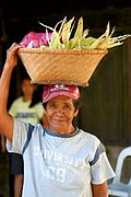 Ilocana Woman With Basket, Philippines