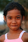 Close-up of a Girl in Las-Ud, the Philippines