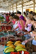 Crowds Shopping at the Farmer's Market near Downtown Minneapolis