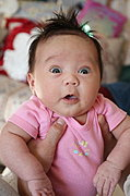 Baby with Surprised Expression