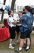 Officials Interviewed at a Festival