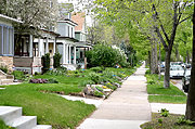 Residential Neighborhood Sidewalk