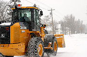 John Deere Front-End Loader in Winter