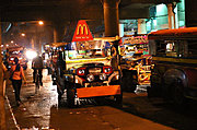 Jeepneys in Cubao, Manila, at Night