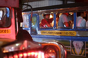 Jeepneys on Aurora Blvd in Cubao, Manila, at Night