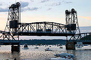Stillwater Lift Bridge at Dusk (Raised)