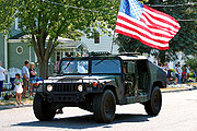 Humvee in the New Richmond Fun Fest Parade