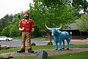 Paul Bunyon and Babe the Blue Ox, Eau Claire, WI.