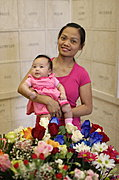 Mother and Baby Girl at Lakewood Cemetery