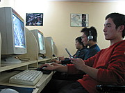 Men in Internet Cafe, Beijing, China