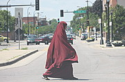 Franklin Avenue, Minneapolis (Woman Wearing Hijaab)