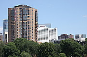 OneTen Grant and the Hyatt Regency Hotel from Loring Park