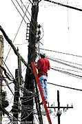 Telephone Lineman, Angeles City, the Philippines