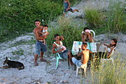 People Living Below the Abacan Bridge, Angeles City, Philippines