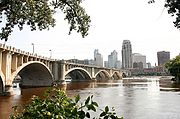 3rd Avenue Bridge and Mississippi River, Minneapolis
