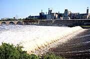 Saint Anthony Falls, the Mississippi River