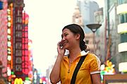 Woman on Cell Phone, Shanghai, China