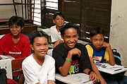 Boys in Fifth Grade Classroom, Philippines