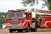Minneapolis Fire Department Ladder Truck (Close-Up)
